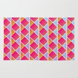 Fuchsia triangles Rug
