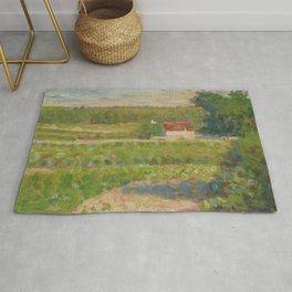 """Georges Seurat """"La Maison au toit rouge"""" Rug"""