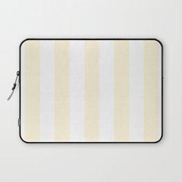 Cornsilk pink - solid color - white vertical lines pattern Laptop Sleeve