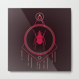 Art Deco style beetle design Metal Print