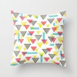 Wild Triangles Throw Pillow