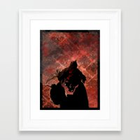 smoking Framed Art Prints featuring Smoking by Nicholas G. Benvenuto