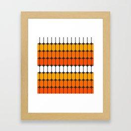 Flame Capsule Framed Art Print