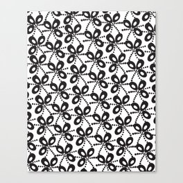 Quirky Black & White Canvas Print