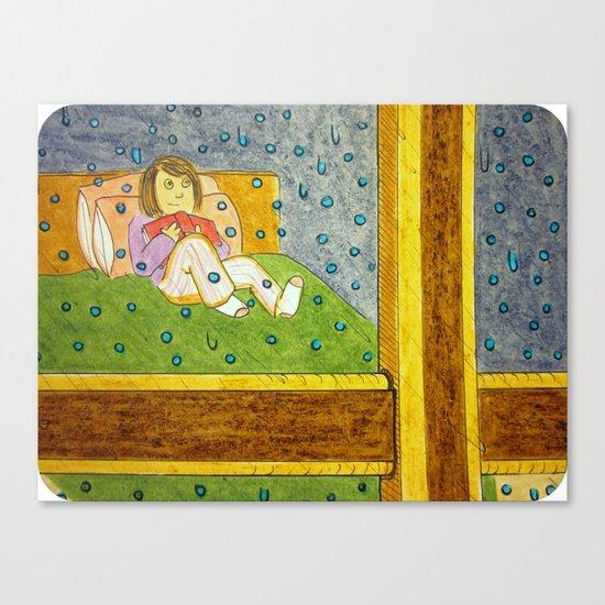 """Raindrops on the Window"" Canvas Print"