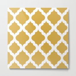 Yellow rombs Metal Print