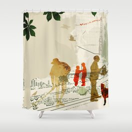 Gardeners street Shower Curtain