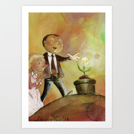 the light from the earth Art Print