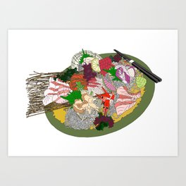 Gorgeous Sashimi Set from Mr Sasaki Art Print
