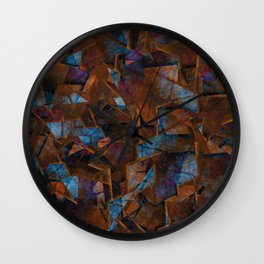 Frsgments In Bronze - Abstract Textured Art Wall Clock