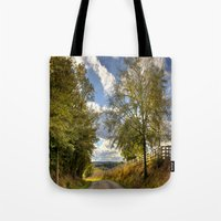 kentucky Tote Bags featuring Kentucky Road by JMcCool