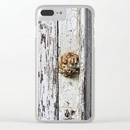 Rusty Lion door knob Clear iPhone Case