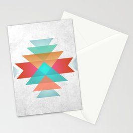 Geometric abstract indigenous symbol Stationery Cards