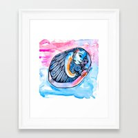 introvert Framed Art Prints featuring The Introvert by Dawn Patel Art