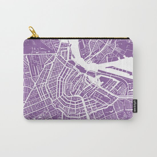 Amsterdam map lilac Carry-All Pouch