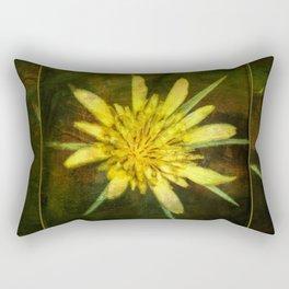 Wildflower ~ Goatsbeard ~ Tragopogon dubius ~ Ginkelmier Inspired Rectangular Pillow