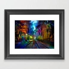 Chemin de fer Framed Art Print