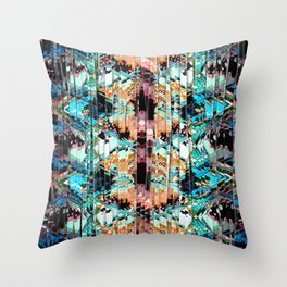 Colorful Abstract In Shreds Throw Pillow