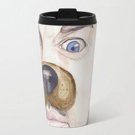Misha Collins, watercolor painting Travel Mug