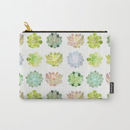 Spring Succulents Carry-All Pouch