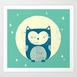 The Moon Owl Art Print
