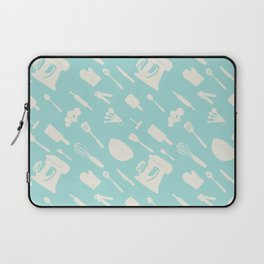 In The Kitchen — Turquoise Laptop Sleeve