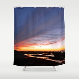 Night brings the Clouds Shower Curtain