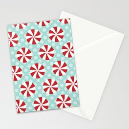 Pinwheels (Red) Stationery Cards