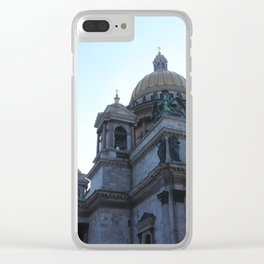 The architecture of St. Isaac's Cathedral. Clear iPhone Case