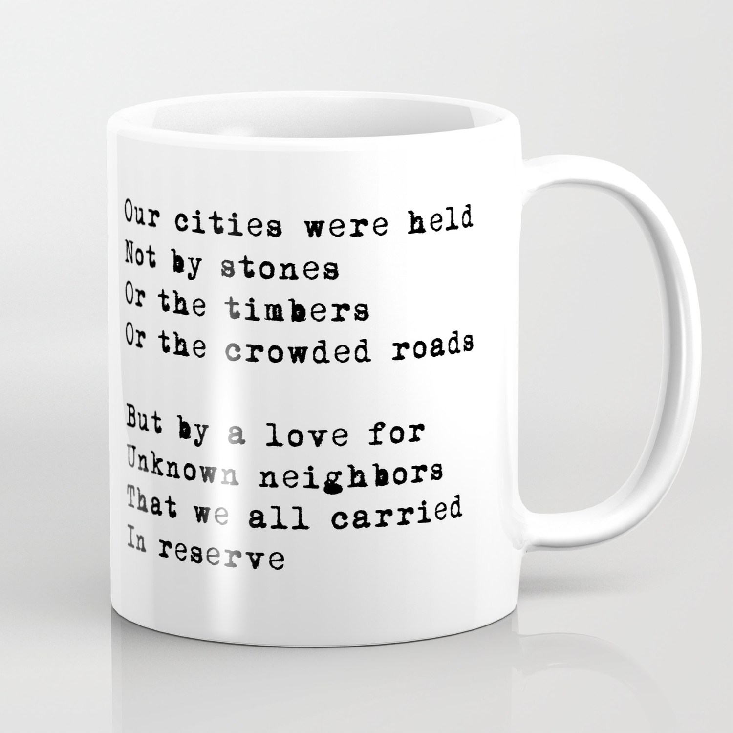 Our Cities (poem) Coffee Mug by