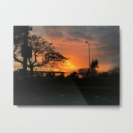 Okinawa Sunset Metal Print