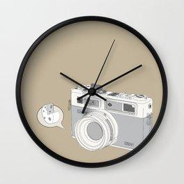 """Yashica Camera - """"Say Cheese"""" - soft-brown Wall Clock"""