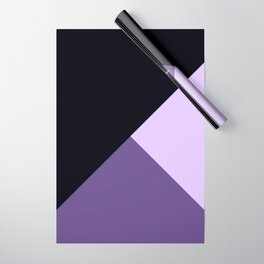 Trinity Color Block Ultra Violet Wrapping Paper