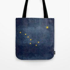 Alaskan State Flag, Distressed worn style Tote Bag