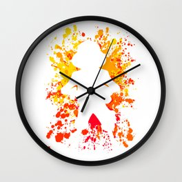 Anime Manga Paint Splatter Inspired Shirt Wall Clock