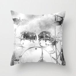 FADED BEAT Throw Pillow