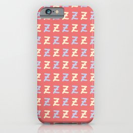Small Lettering Z Pattern iPhone Case