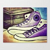 converse Canvas Prints featuring Converse by April H