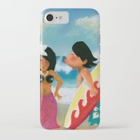surfer iPhone & iPod Cases featuring Surfer by colortown