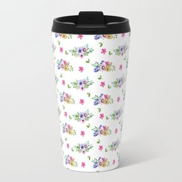 Tiny Flowers Ditsy Floral Travel Mug