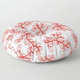 Corn Poppy Red Florals Floor Pillow