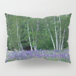 Birches in Blue Lupine Pillow Sham