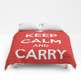 Keep Calm And Carry Luggage Comforters