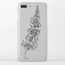 Lupins Clear iPhone Case