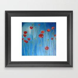 Blue Poppies Framed Art Print