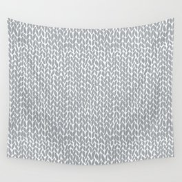 Hand Knit Light Grey Wall Tapestry