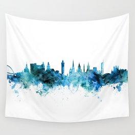 Glasgow Scotland Skyline Wall Tapestry