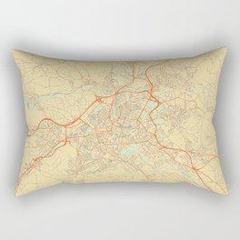Bern Map Retro Rectangular Pillow
