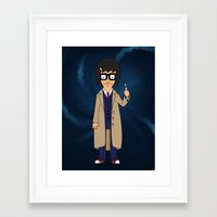 tina belcher Framed Art Prints featuring Doctor Tina, Time Lord by GrahamBailey