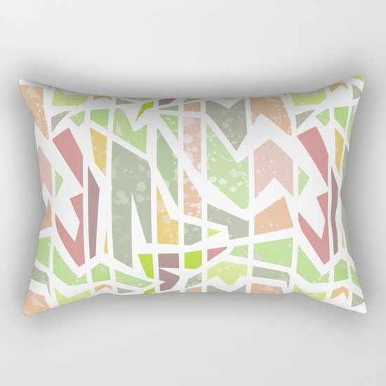 Abstract pattern . Geometric shapes . Rectangular Pillow